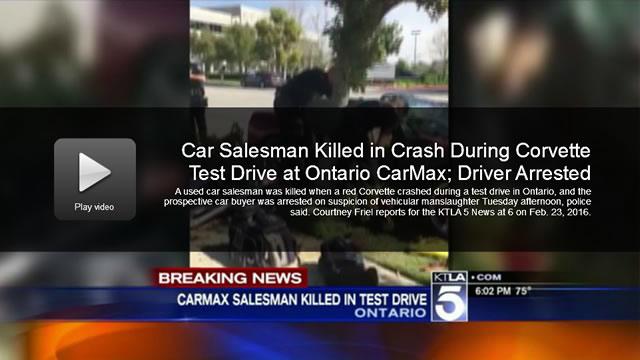 Video Carmax Salesman Killed In Crash During Corvette Test Drive