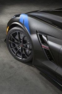 The new 2017 Chevrolet Corvette Grand Sport combines a lightweight architecture, a track-honed aerodynamics package, Michelin tires and a naturally aspirated engine to deliver exceptional performance. Inside, the Grand Sport Collector Edition features a unique Tension Blue full leather and suede-wrapped interior, a three-dimensional representation of an original Grand Sport race car is embossed in the headrests and that shape is also used on an instrument panel plaque that carries a unique build