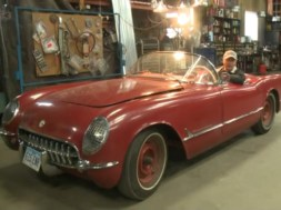 Richard Helverson and his 1954 Corvette.