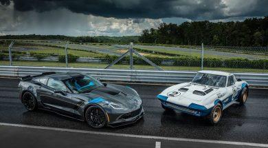 2017 Corvette Grand Sport and a 1963 Corvette Grand Sport