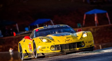 The #4 Chevrolet Corvette Racing C7.R, driven by Oliver Gavin, Tommy Milner and Marcel Fässler race to a third-place finish Saturday, October 1, 2016 during the IMSA WeatherTech SportsCar Championship GT 10-hour Petit Le Mans endurance race at Road Atlanta in Braselton, Georgia. The podium finish earns Gavin and Milner the IMSA Driver Championship and the North American Endurance Cup Championship.(Photo by Richard Prince for Chevy Racing)