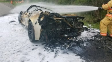 2016 Corvette Z06 Goes Up in Flames on I-81 in New York