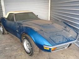Jim Kevan's 1972 Bryar Blue 454 Corvette. – Courtesy of Jim Kevan