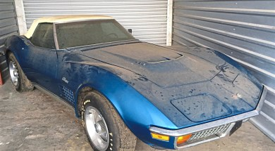 Jim Kevan's 1972 Bryar Blue 454 Corvette. – Courtesy of Jim Kevan