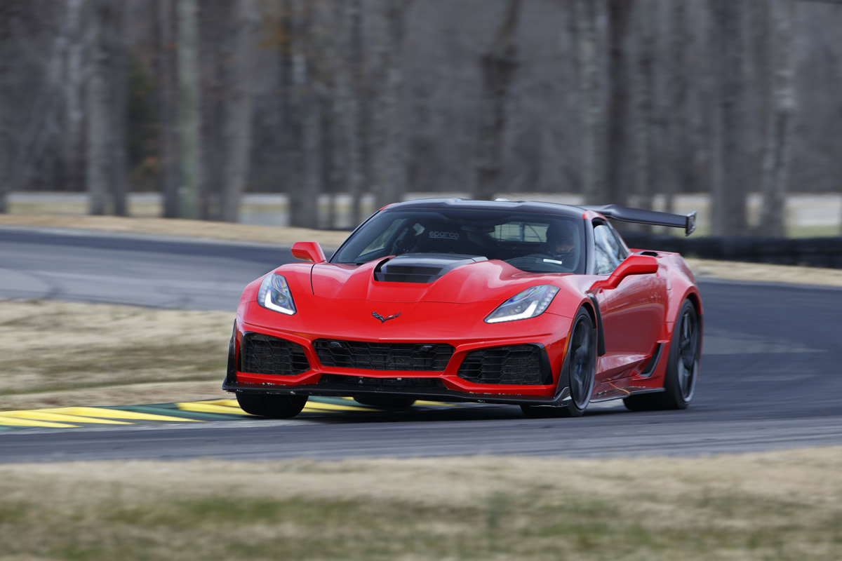2019 Chevrolet Corvette ZR1 – VIR lap record holder on Grand Course West. (Richard Prince/Chevrolet photo)