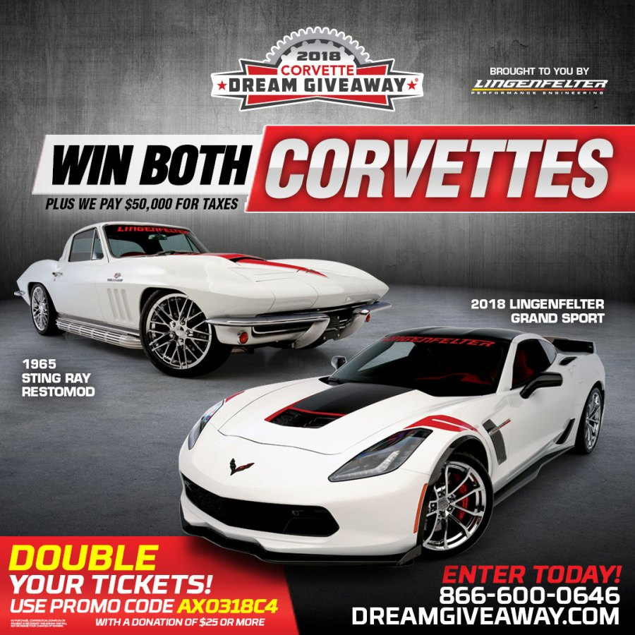 Click here for a chance to win both Corvettes!