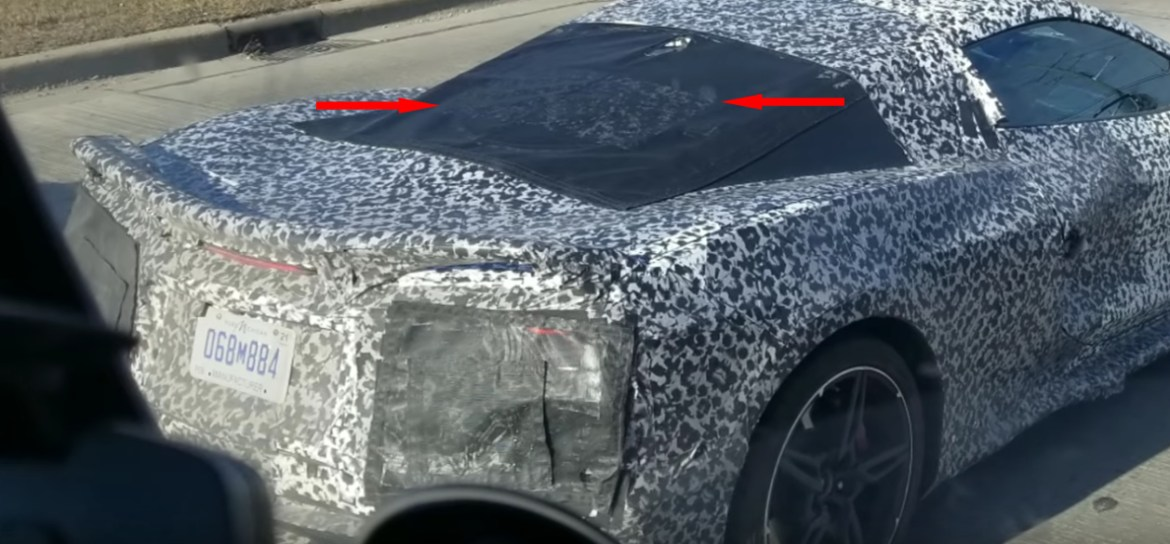 C8 mid-engine Corvette rear hatch