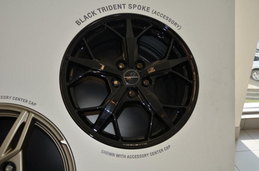 2020 C8 Corvette Black Trident Spoke Wheel