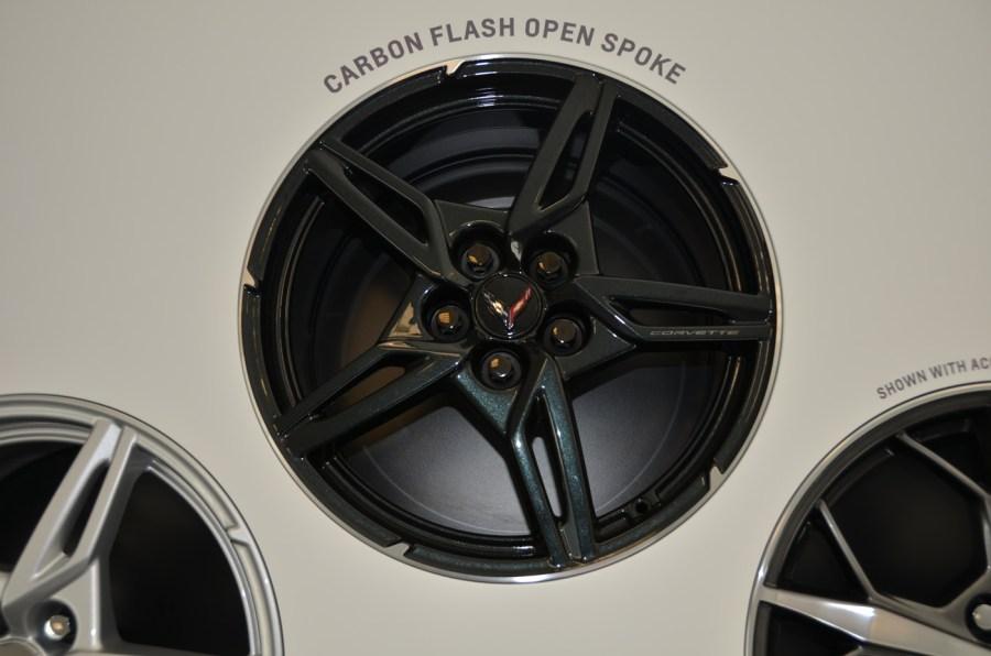 2020 C8 Corvette Carbon Flash Open Spoke Wheel