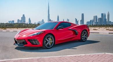 2020 Corvette in Torch Red