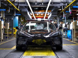 First 2020 Corvette rolls off the Bowling Green Corvette Assembly line.