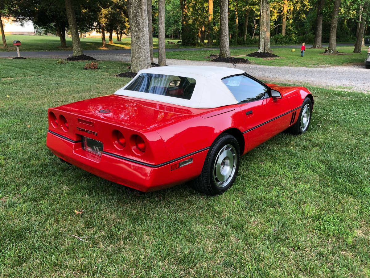 1987 Corvette Convertible in Bright Red with Only 2,450 Miles