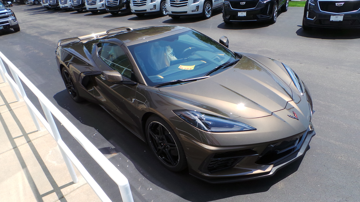 2020 Corvette Stingray Coupe in Zeus Bronze Metallic