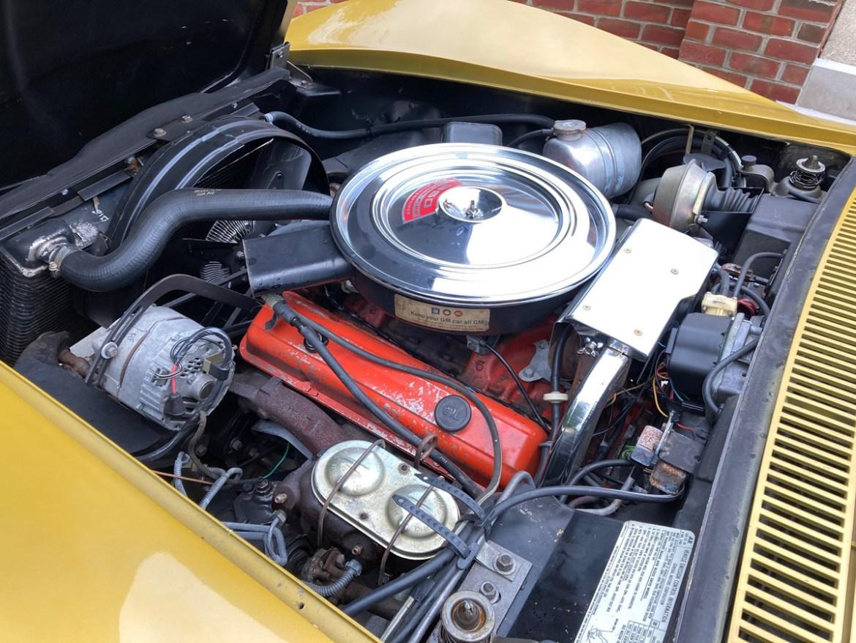 1971 Corvette in War Bonnet Yellow - 350/270HP L48 engine