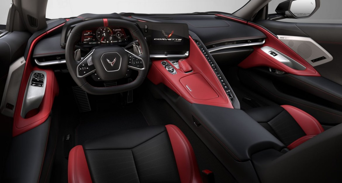 2021 Corvette Silver Flare with Adrenaline Red Interior