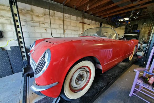 1954 Corvette in Sportsman Red