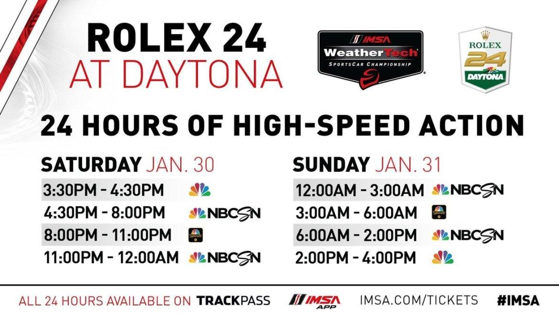 Rolex 24 Hours of Daytona Schedule