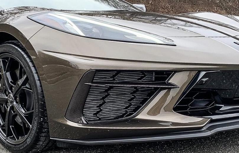 C8 Corvette Grille Insert In Visible Carbon Fiber
