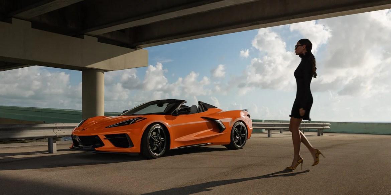 2022 Corvette showing Amplify Orange