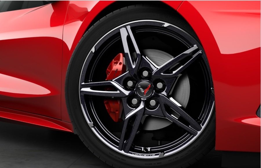 Edge Red Brake Caliper - C8 Corvette