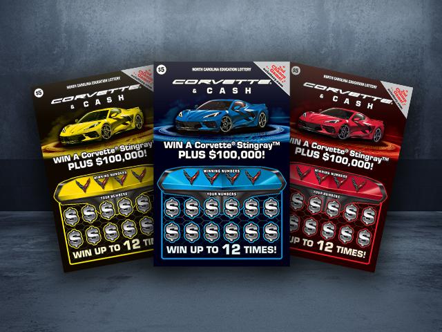 Corvette & Crash Scratch-Off(Courtesy of NC Education Lottery)