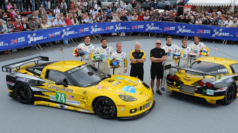 Corvette Racing Team at Le Mans 2011