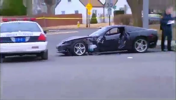 Creepy Guy in a Corvette chased from Elementary School, Crashes into Five Police Cars