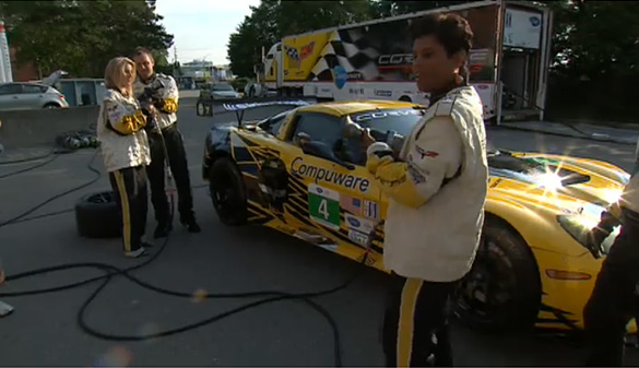 [VIDEO] Corvette Racing's Mosport Pit Stop Demonstration - in High Heels?