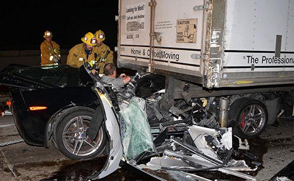 Corvette Z06 Owner Survives Horrific Crash on the 405 in