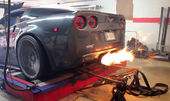 [VIDEO] 900 HP Corvette ZR1 Belches Flames on the Dyno
