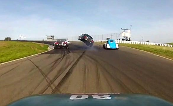 [VIDEO] Mazda Crashes Into Back of a Corvette at Thunderhill Raceway