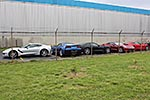 Five 2014 Corvette Stingrays at the Bowling Green Assembly Plant