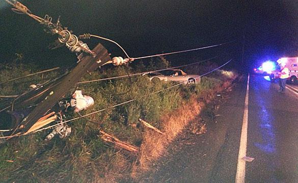 [ACCIDENT] Mans Buys a C5 Corvette, Crashes into Power Line Pole