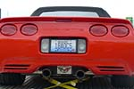 The Corvette Vanity Plates of Bloomington Gold 2013