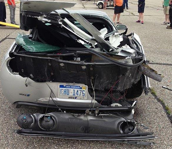 [ACCIDENT] Corvette ZR1 Crashes After Celebratory Burnout at the Michigan Mile
