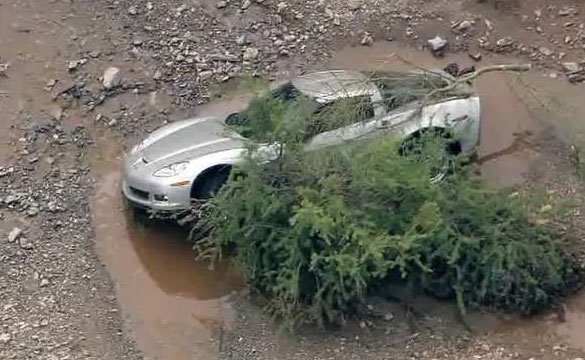[VIDEO] C6 Corvette Caught in Arizona's Flash Flood on Sunday