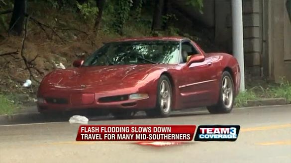 [VIDEO] Corvettes and Standing Water Do Not Play Well Together