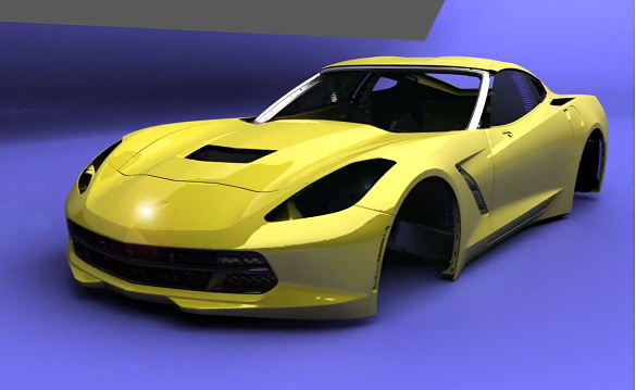[VIDEO] The 2014 Corvette Stingray Animated Build