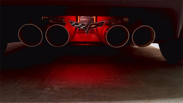 LED Exhaust Enhancer Plate