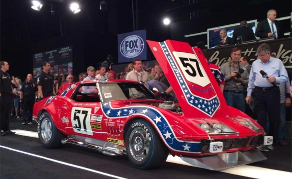 famous Corvette racecar known as the 'Rebel' lot 5022, a 1969 L88, sold for $2.86M including bidder fees