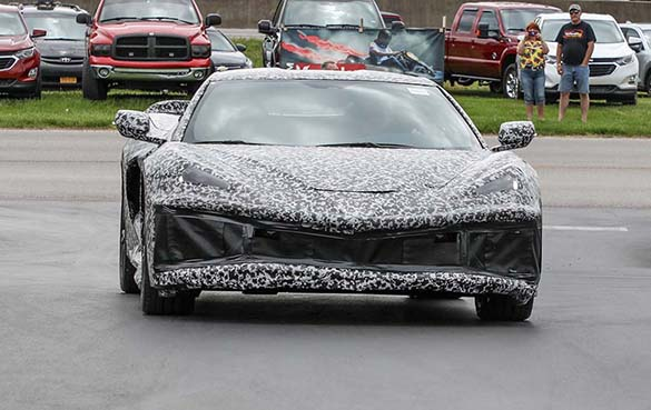 The C8 Mid-Engine Corvette Makes A Drive-By Appearance at the NCM Bash