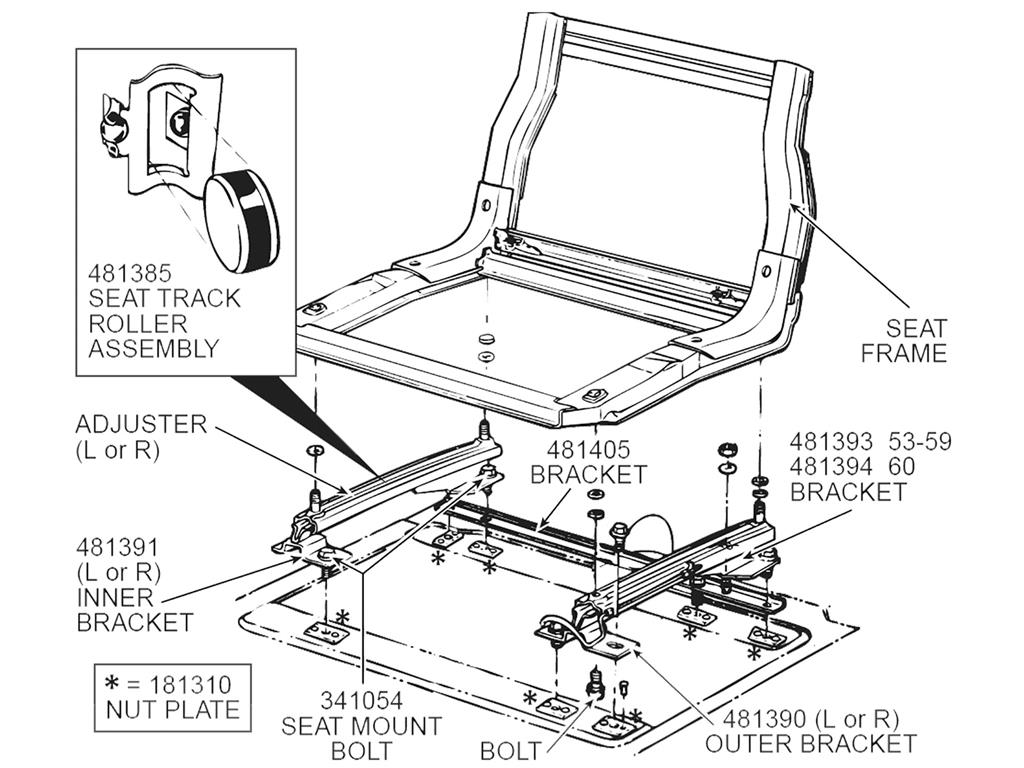 53 62 Seat Hold Down Retainer Plate