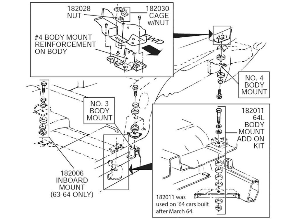 medium resolution of 64 body mount kit add on after 4 21 64
