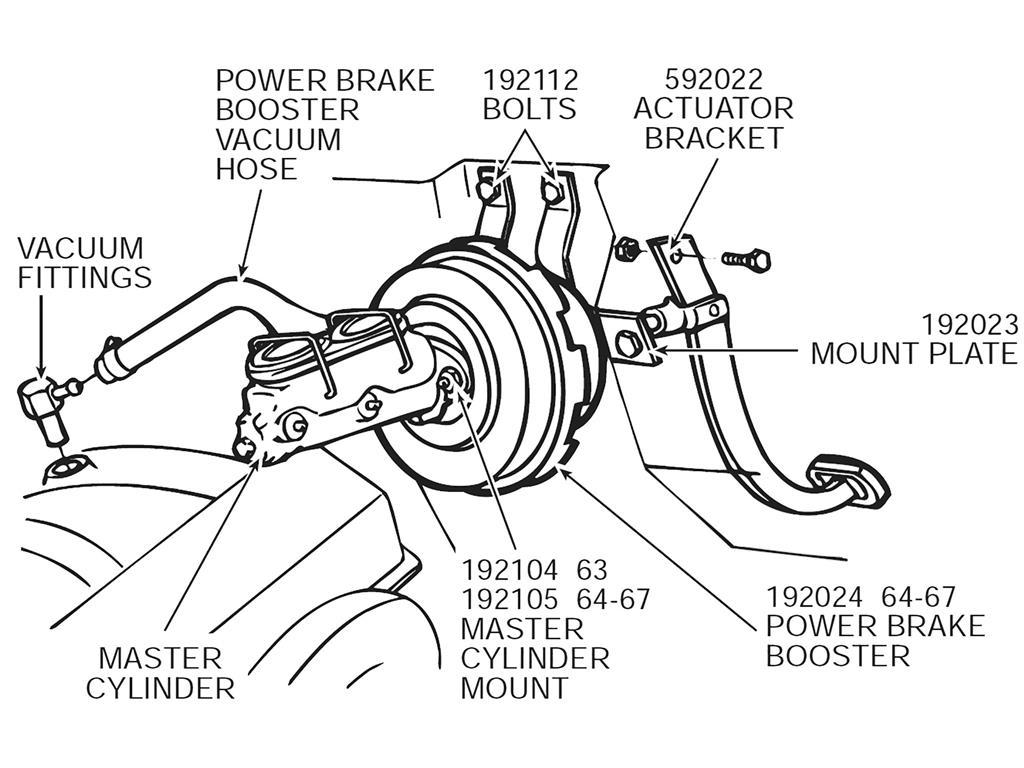 64 82 Master Cylinder Mount Kit