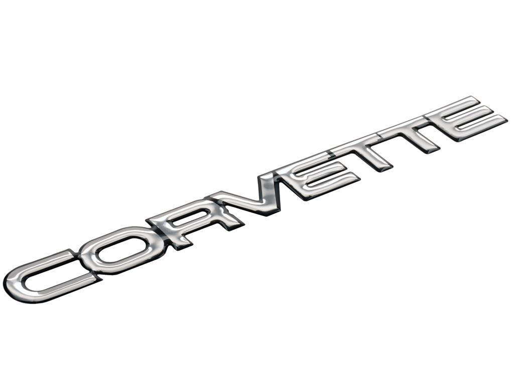 84-90 Rear Corvette Polyurethane Emblem *Specify Color