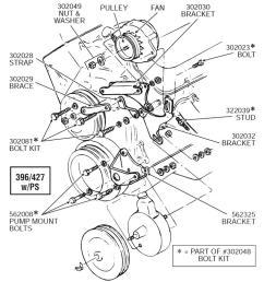 65 74 alternator mount bracket adjust and power steering pump 427 block alternator without power steering diagram for a 1972 corvette [ 1024 x 768 Pixel ]