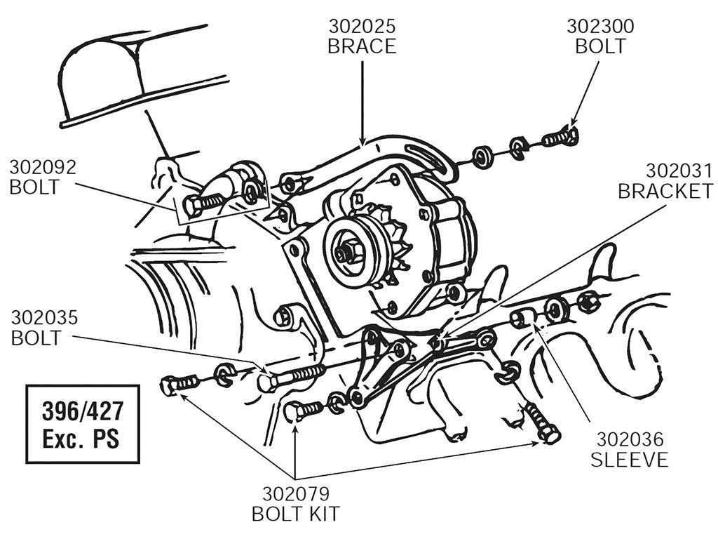 65 74 Alternator Mount Bolt Set