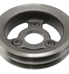 65 71 crankshaft pulley 427 454 2 groove lower cast iron 65 67 replacement [ 1024 x 768 Pixel ]