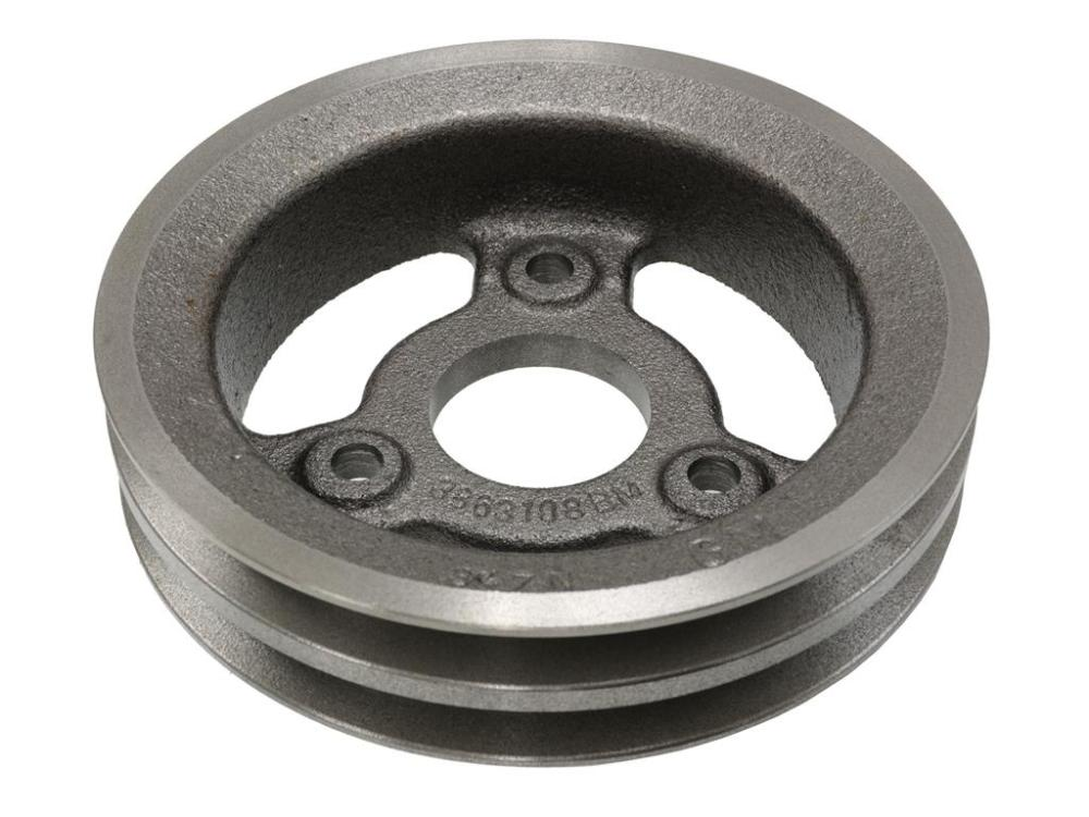 medium resolution of 65 71 crankshaft pulley 427 454 2 groove lower cast iron 65 67 replacement