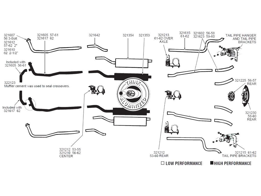 61 62 Exhaust Hanger Kit